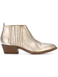 Buttero Metallic Texan Booties