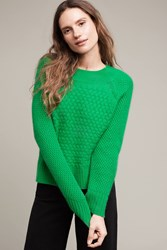 Anthropologie Woven Cashmere Sweater Kelly