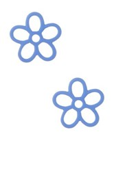 Marc By Marc Jacobs Rubberized Daisy Stud Earrings Blue