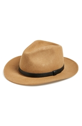 Brixton 'Messer' Wool Fedora Tan Black