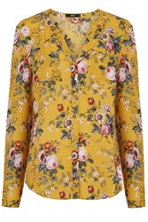 Oasis Fifi Floral Viscose Blouse Yellow