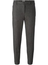 Brunello Cucinelli Tailored Cropped Trousers Brown