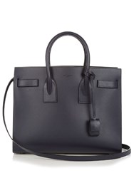 Saint Laurent Sac De Jour Small Leather Tote Navy