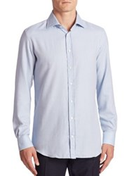 Luciano Barbera Cotton And Cashmere Shirt Blue