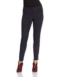 424 Fifth Stretch Suede Ponte Leggings Deep Navy