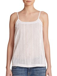 Theory Centeria Pintucked Lace Trim Camisole White