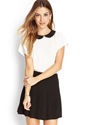 Forever 21 Contrast Peter Pan Blouse