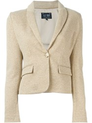 Armani Jeans Knitted Blazer Nude And Neutrals