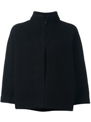 Paul Smith Ps By Funnel Neck Cropped Jacket Black