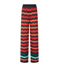 M Missoni Wide Wave Trousers Female Red