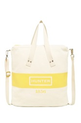 Hunter Graphic Canvas Shopper Yellow
