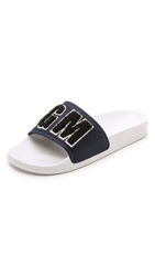 Msgm Patch Pool Logo Slides Black