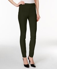 Styleandco. Style Co. Tummy Control Stretch Leggings Evening Olive