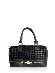 Morgan Hound S Tooth And Zip Bag Black