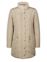 Dash Heavy Quilted Coat Neutral