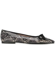 Pretty Ballerinas Snakeskin Effect Black