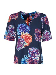 Pied A Terre Floral Print Top Multi Coloured