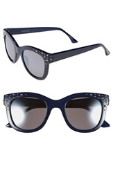 Women's Isaac Mizrahi New York 52Mm Retro Sunglasses Navy