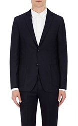 Officine Generale Men's Suiting Flannel Two Button Sportcoat Navy