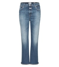 Closed Rose Cropped Jeans Blue