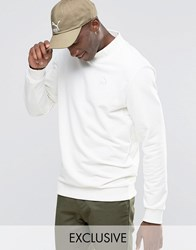 Puma High Neck Sweatshirt With Embroidered Logo Exclusive To Asos White