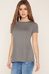 Forever 21 High Slit Back Tee