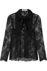 Philosophy Di Lorenzo Serafini Pintucked Lace Blouse Black
