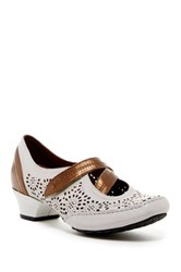 Aravon Flex Lacey Cutout Leather Mary Jane Pump Wide Width Available White