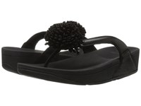 Fitflop Flowerball Leather Toe Post Black Women's Sandals