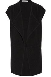 Duffy Paneled Merino Wool Blend Vest Black