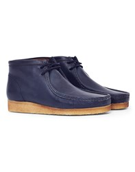 Clarks Originals Leather Wallabee Boot Navy