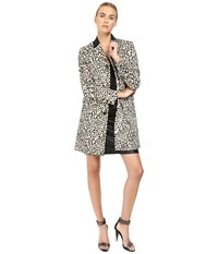 Just Cavalli Love Cat Print Button Front Runway Jacket Natural Varient