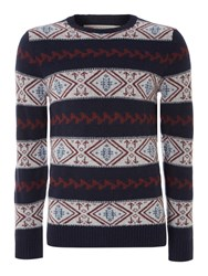Levi's Fairisle Crew Neck Jumper Blue