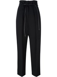 3.1 Phillip Lim Tie High Waist Trousers Black