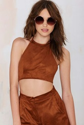 Nasty Gal Betina Halter Crop Top