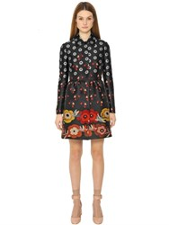 Red Valentino Floral Techno Jacquard Coat
