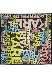 Karl Lagerfeld Printed Cotton Scarf