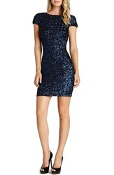 Women's Dress The Population Scooped Back Sequin Body Con Dress Navy