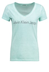 Calvin Klein Jeans Tess Slim Fit Print Tshirt Blue Turquoise