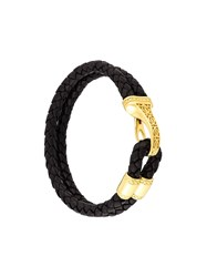 Nialaya Jewelry Braided Bali Clasp Bracelet Black
