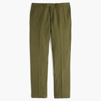 J.Crew Bowery Slim Pant In Fatigue Green Wool