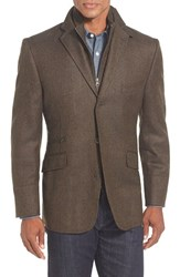 Men's Big And Tall Kroon 'Ritchie' 3 In 1 Blazer Brown