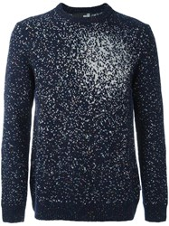 Love Moschino Intarsia Fade Jumper Blue