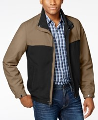 Perry Ellis Men's Colorblocked Stand Collar Jacket Willow