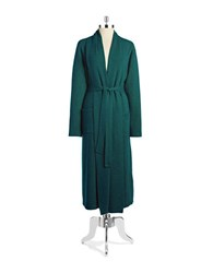 Lord And Taylor Cashmere Long Robe Teal