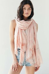 Ecote Marbled Beach Oblong Scarf Coral