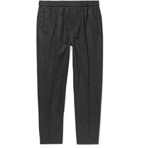 Cos Slim Fit Tapered Wool Blend Trousers Charcoal