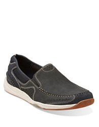 Clarks Allston Free Nubuck Leather Loafers Blue