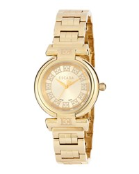 Escada Ion Gold Plated Stainless Steel Three Hand Lauren Watch