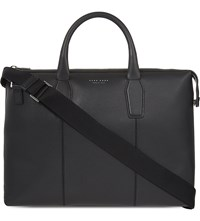 Hugo Boss Elite Grained Leather Briefcase Black